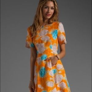 Tracy Reese deconstructed floral dress